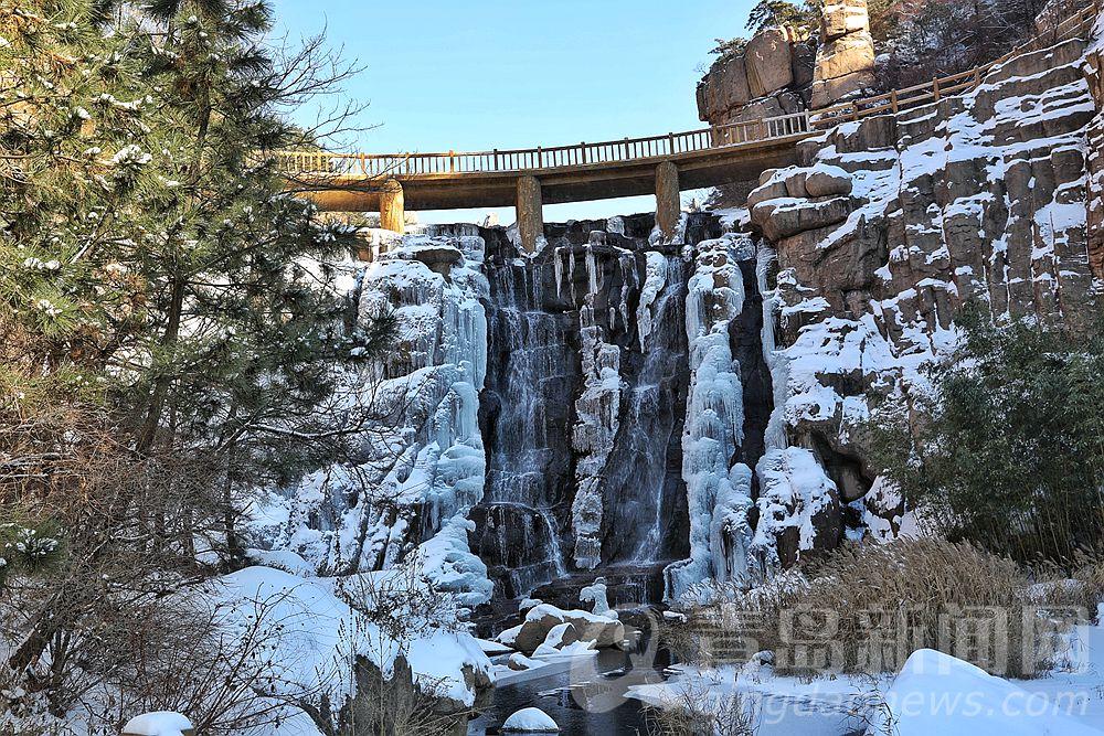北九水开启冰瀑美景模式