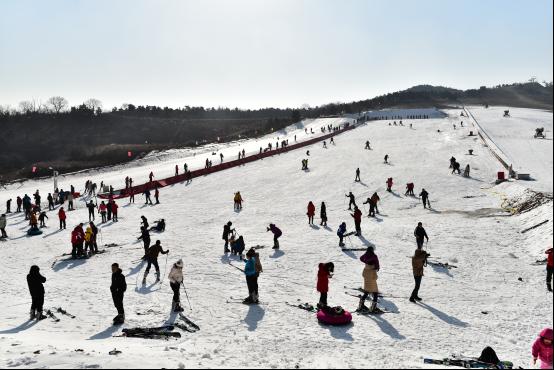 2015年12月24日,首届藏马山冰雪节在青岛西海岸新区藏马山旅游度假区